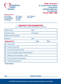 Southern Cardiology Referral Form